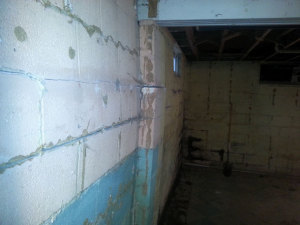 foundation stabilization bowing basement wall repair