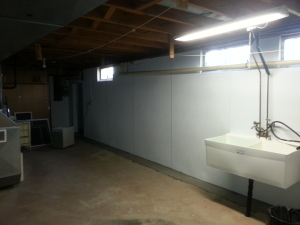 Basement waterproofing panels