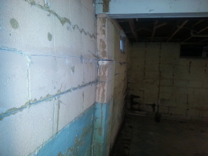 bowing basement wall requiring foundation repair methods