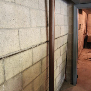 bowing basement wall needing basement wall repair