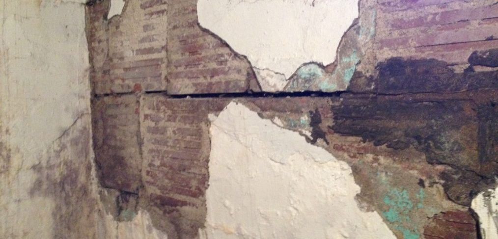 basement wall mortar rot